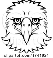 Eagle Mascot Cute Happy Cartoon Character