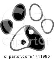 Peace Dog Paw Print
