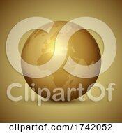 Poster, Art Print Of Golden Globe Background Design