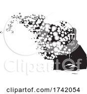 Contagious Man Spreading A Virus