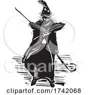 04/21/2021 - Wizard Holding A Magic Book