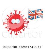 Mad Virus Holding An England Flag