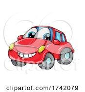 Red Car Mascot Cartoon by Domenico Condello #COLLC1742079-0191