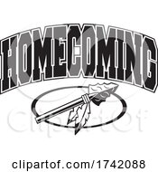 Poster, Art Print Of Black And White Arrowhead With Homecoming Text