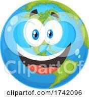 Poster, Art Print Of Happy Earth Globe Mascot Character