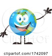 Waving Earth Globe Mascot Character