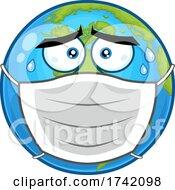 Poster, Art Print Of Masked Earth Globe Mascot Character