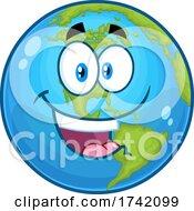 Happy Earth Globe Mascot Character