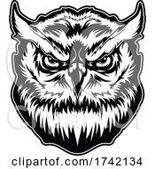 Great Horned Owl Mascot Logo