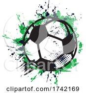 Grungy Soccer Ball Sports Logo