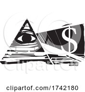 Eye Of Providence And Dollar Sign