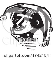 04/26/2021 - Woodcut Jester Face