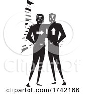 Poster, Art Print Of Couple In An Unequal Partnership