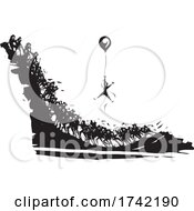 04/26/2021 - Man Using Balloon To Get Ahead