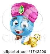 Genie Lamp Emoticon Cartoon Face