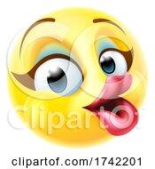 Female Happy Emoticon Woman Cartoon Makeup Face