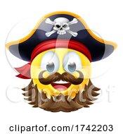Pirate Emoticon Cartoon Face