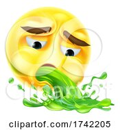 Puking Vomiting Sick Emoticon Cartoon Face Icon