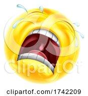 Sad Crying Emoticon Cartoon Face