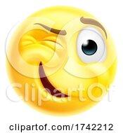 Winking Cheeky Emoticon Cartoon Face