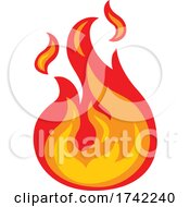 Fire Flame Icon Concept