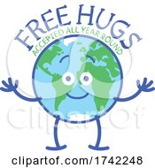 Poster, Art Print Of Earth Mascot Offering Free Hugs All Year Round