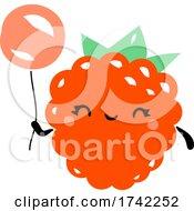 04/27/2021 - Cute Raspberry Holding A Balloon