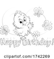 Chick With Happy Birthday Text