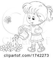 04/28/2021 - Girl Watering Flowers