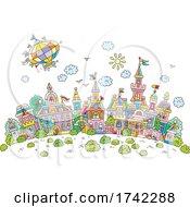 04/28/2021 - Hot Air Balloon Over A Town