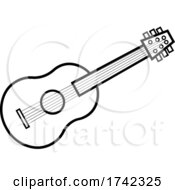 04/29/2021 - Acoustic Guitar In Black And White