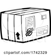 Shipping Box In Black And White