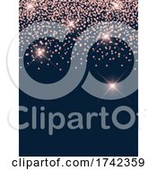 Poster, Art Print Of Pink Sparkly And Dark Blue Background