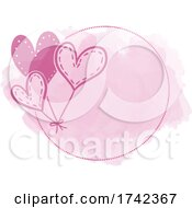 Poster, Art Print Of Watercolor Heart Balloon Design