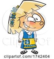 Cartoon Swedish Girl