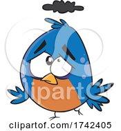 Cartoon Unhappy Bird