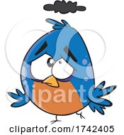 Cartoon Unhappy Bird
