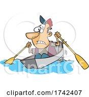 Cartoon Man Rocking The Boat