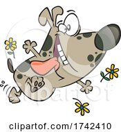 Cartoon Happy Spring Pup