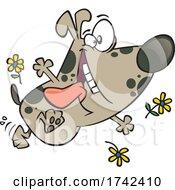 Cartoon Happy Spring Pup