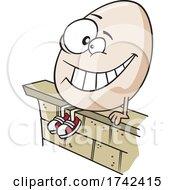 Cartoon Humpty Dumpty Sitting On A Wall