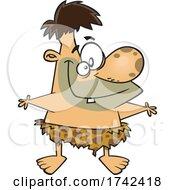 Cartoon Happy Neanderthal by toonaday