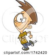 Cartoon Boy Exiting Stage Left