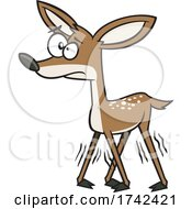 Cartoon Wobbly Fawn