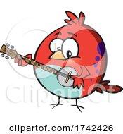 Cartoon Bird Playing A Banjo