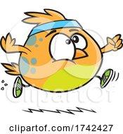 Cartoon Bird Jogging