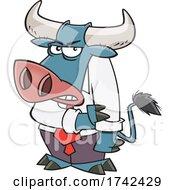 Cartoon Tough Boss Bull