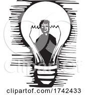 Poster, Art Print Of Light Bulb Man