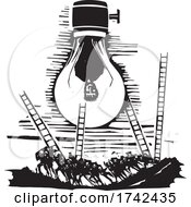 Poster, Art Print Of Changing A Burnt Out Lightbulb