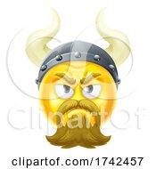 Poster, Art Print Of Viking Emoticon Cartoon Face Icon